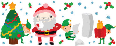 Lustige Santa Reading To Do List Lizenzfreies Stockbild
