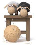lustige Schafe der Illustration 3d Lizenzfreies Stockfoto