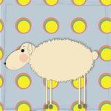 Lustige Schafe des Vektors Lizenzfreies Stockfoto