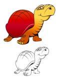 Lustige Schildkröte der Karikatur lizenzfreie abbildung