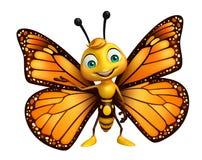lustige Schmetterlingszeichentrickfilm-figur lizenzfreie abbildung