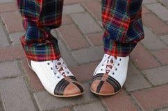 Lustige Schuhe Stockfoto
