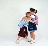 Lustige Schulemädchen Lizenzfreies Stockfoto