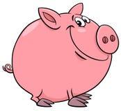 Lustige Schweincharakter-Karikaturillustration Lizenzfreies Stockfoto