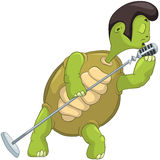 Lustige singende Schildkröte. Lizenzfreies Stockbild