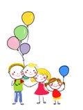 Lustige Skizze einer glücklichen Familie Lizenzfreie Stockfotografie