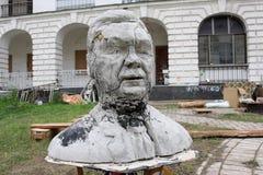 Lustige Skulptur des ukrainischen Präsident Lizenzfreie Stockfotografie
