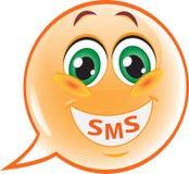 Lustige sms Lächelnspracheblase Stockfotografie