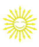 Lustige Sonne lizenzfreies stockbild