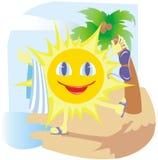 Lustige Sonne Lizenzfreies Stockfoto