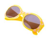 Lustige Sonnenbrillen getrennt auf Weiß Stockfoto