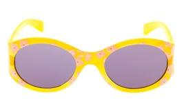 Lustige Sonnenbrillen getrennt auf Weiß Stockbild