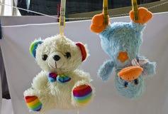 Lustige Spielzeugente Stockbild