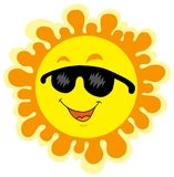 Lustige Sun-Karikatur Stockfotos