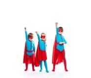 Lustige Superhelden träumer lizenzfreie stockfotos