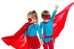 Lustige Superhelden träumer stockfotos