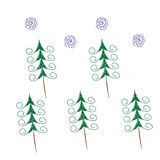 Lustige Tannenbäume Stockbilder