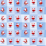 Lustige tanzende Santa Claus in der netten Karikaturart Nahtloser Hintergrund Auch im corel abgehobenen Betrag Stockbild