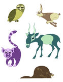 Lustige Tiere der Karikatur Lizenzfreie Stockfotos