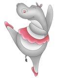 Lustige Tiere, die Hippopotamus tanzen Stockbild