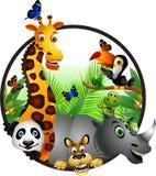 Lustige Tiertierkarikaturansammlung Lizenzfreies Stockbild