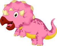 Lustige Triceratopskarikatur Stockbilder