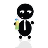 Lustige und nette späteste Babyvektorillustration Lizenzfreie Stockbilder