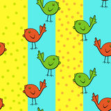Lustige Vögel Stock Abbildung
