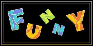 LUSTIGE Versalienfahne des stilvollen Emailmosaiks Stockbild