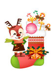 Lustige Weihnachtsdekorationsikone stellt - kreative Illustration eps10 ein Lizenzfreies Stockfoto