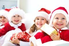 Lustige Weihnachtsfirma Stockbilder