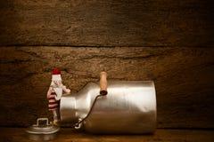 Lustige Weihnachtskarte Santa Claus Lizenzfreie Stockfotos