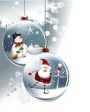 Lustige Weihnachtskugeln Stockfoto