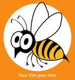 Lustige Wespe- oder Bienenauslegung. Lizenzfreies Stockfoto