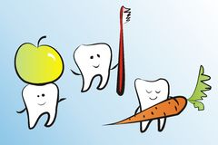 Lustige Zähne Lizenzfreie Stockbilder