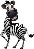 Lustige Zebrakarikatur Stockfotografie