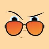 Lustige Zeichentrickfilm-Figur-Gesichts-Illustration Editable Lizenzfreies Stockbild