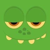 Lustige Zeichentrickfilm-Figur-Gesichts-Illustration Editable Stockfotografie