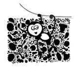 Lustiger Affe für Ihr Design Lizenzfreie Stockbilder