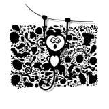 Lustiger Affe für Ihr Design Lizenzfreies Stockbild