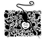 Lustiger Affe für Ihr Design Stockfoto