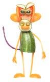 Lustiger Affe gemacht vom Gemüse Stockbild