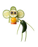Lustiger Affe gemacht vom Gemüse Lizenzfreie Stockbilder