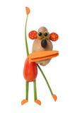 Lustiger Affe gemacht vom Gemüse Lizenzfreie Stockfotos