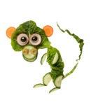 Lustiger Affe gemacht vom Salat Lizenzfreie Stockfotografie