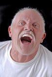 Lustiger alter Mann stockfoto