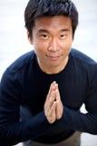 Lustiger asiatischer Karate-Mann Lizenzfreies Stockbild