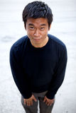 Lustiger asiatischer Karate-Mann Lizenzfreie Stockbilder