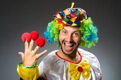 Lustiger Clown in buntem Lizenzfreie Stockfotos