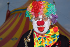 Lustiger Clown des Shriners Zirkuses   Stockfotografie